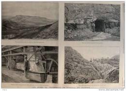 Mines De Phosphate De Tébessa - Page Original - 1895 - Historical Documents