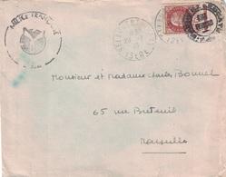 ISERE - ST LAURENT DU PONT -29-7-1943 - CACHET MILICE FRANCAISE + ETAT FRANCAIS - N°517 SUR LETTRE POUR MARSEILLE - Oorlog 1939-45