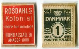 N93-0513 - Timbre-monnaie - Danemark - Rosdahls Kolonial - 1 Ore - Kapselgeld - Encased Stamp - Monétaires / De Nécessité
