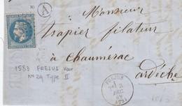 DEVANT DE LETTRE . 3 DEC 69. VAR FREJUS. GC 1583. BOÏTE RURALE A/ 1 - Marcophilie (Lettres)