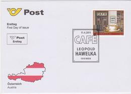 FDC 2011 - Mi 2918 , Gastronomie Mit Tradition - Cafe Hawelka , SST 1010 Wien - 1945-.... 2. Republik