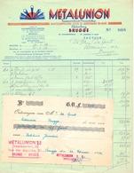 Factuur Facture - Metalunion Brugge 1952 - Electricity & Gas