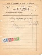 Factuur Facture - Lood En Zink G. Martens Gent 1946 - Électricité & Gaz