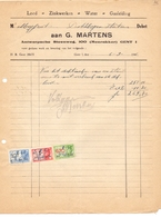 Factuur Facture - Lood En Zink G. Martens Gent 1946 - Electricity & Gas