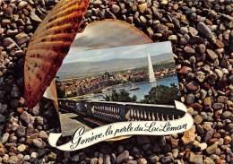 GENEVE  VUE GENERALE  FANTAISIE - COQUILLAGE - GE Geneva