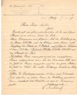 Factuur Facture - Brief Uit Moskou Naar Gent - W. Nemtchinoff - 1897 - Autres
