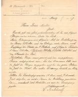 Factuur Facture - Brief Uit Moskou Naar Gent - W. Nemtchinoff - 1897 - Factures & Documents Commerciaux