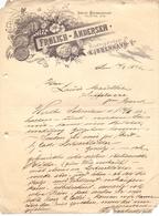 Factuur Facture - Brief Uit Kjobenhavn Kopenhagen Denemarken - Frolich Andersen 1896 - Autres