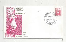 Timbre , Premier Jour , 1986 , NOUVELLE CALEDONIE ET DEPENDANCES , Oiseaux , CAGOU - FDC