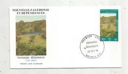 Timbre , Premier Jour , 1986 , NOUVELLE CALEDONIE ET DEPENDANCES , Paysages Régionaux , Côte Ouest - FDC