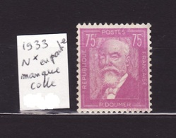 1933 N 292 N** Manque 1/2 Colle AF146 - Neufs