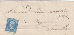 LAS. SAONE ET LOIRE CHAGNY. GC 830. ORIGINE RURALE OR    / 2 - Marcophilie (Lettres)