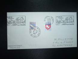 LETTRE TP ST LO 0,20 OBL.MEC.8-10 1971 60 CREPY EN VALOIS OISE Musée De L'Archerie + TP TROYES 0,10 OBL. - Postmark Collection (Covers)
