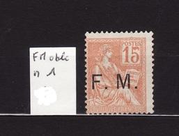 FM N 1 Obli  AF166 - Franchise Militaire (timbres)