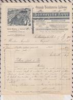 8/27 Lettre Facture SONNEVILLE TEINTURERIE LA MADELEINE LEZ LILLE /1902 - France