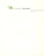 Blanco Briefpapier Hoofding Lettre En Tete - Jeugdherberg Klavervelden - Bergen Op Zoom - Old Paper