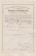 8/39 Lettre Facture ROSSEL L'HERMITTE LILLE NETTOYAGE A SEC /1884 - 1800 – 1899
