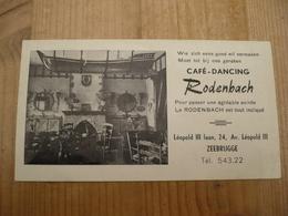 Zeebrugge 1955 Dancing Rodenbach Perfecte Staat - Cartes De Visite