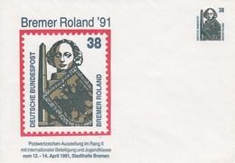PU 315 D2/1 Bremer Roland `91 - Postwertzeichen-Ausstellung Im Rang II 1991, Stadthalle Bremen - [7] Federal Republic