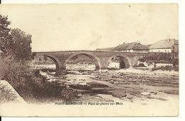 39 - PONT DE POITTE / PONT DE PIERRE SUR L'AIN - France