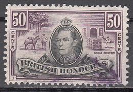BRITISH HONDURAS    SCOTT NO. 123     USED    YEAR  1938 - Britisch-Honduras (...-1970)