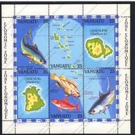 Vanuatu, Yvert BF4, Scott 353a-f, MNH - Vanuatu (1980-...)