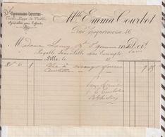 8/50 Lettre Facture COURBOT MUYLAERT LILLE TROUSSEAUX LAYETTES DENTELLES /1898 - France