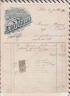 8/49 Lettre Facture EMILE MULNARD LILLE HORTICULTURE /1902 - France