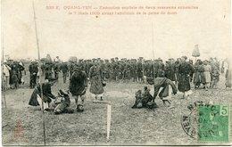 INDOCHINE CARTE POSTALE DU TONKIN -QUANG-YEN -EXECUTION CAPITALE DE DEUX ASSASSINS ANNAMITES LE 7 MARS 1905 AVANT ...... - Postales