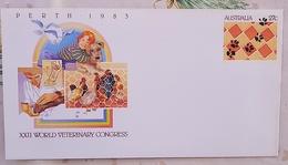 AUSTRALIE Veterinaire, Veterinary, Veterinario, Tierärztlich ENTIER POSTAL XXII WORLD VETERINARY CONGRESS 1983 - Medizin