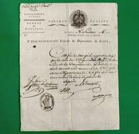 D-FR Révolution 1798 Certificat De Non Inscription Sur Aucune Liste D'Emigrés GARD Ponteils-et-Brésis - Documents Historiques