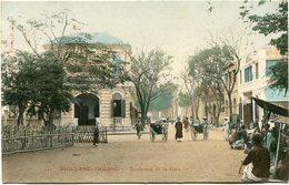 INDOCHINE CARTE POSTALE DU TONKIN -PHU-LANG-THUONG -BOULEVARD DE LA GARE - Postales
