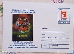 ROUMANIE Veterinaire, Veterinary, Veterinario, Tierärztlich ENTIER POSTAL Publicitaire LABORATOIRE KETOROL Neuf 1996 - Medizin