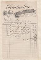 8/52 Lettre Facture EMILE MULNARD SAINT MAURICE LILLE HORTICULTURE /1897 - France