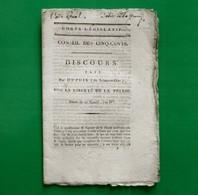 D-FR Révolution 1796 Discours Fait Par DUPUIS ( De Seine-et Oise), Sur La Liberté De La Presse - Documents Historiques