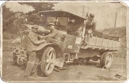 GROS CAMION BENNE  ANNEES 1930.40   CARTE PHOTO SEPIA - Automobile