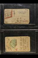 HAND ILLUSTRATED POSTAL CARDS - UNITED STATES 1884/7 Fabulous Collection Of Hand Painted Postcards With A Wealth Of Soci - Stamps