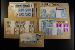 BRITISH COMMONWEALTH 1960's-1980's NEVER HINGED MINT RANGES On Stock Cards & In Packets, Inc Loads Of Complete Sets, Blo - Stamps