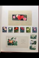 FLOWERS AND PLANTS ON STAMPS - OVER 6,000 STAMPS! An Impressive All Different Fine Mint 1950's To 1980's Foreign Countri - Stamps