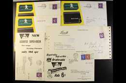 SWEETS A Group Of Great Britain 1960's Postally Used Illustrated Representatives Cards With Product Adverts And Order Fo - Stamps