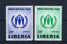 Liberia 1960 Weltflüchtlingsjahr Mi.Nr. 548/49 ** - Liberia