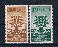 Libanon 1960 Weltflüchtlingsjahr Mi.Nr. 670/71 Kpl. Satz ** - Libanon