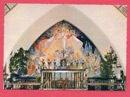 CPSM (W 548) 1783 - VALBERG  (06 ALPES-MARITIMES) Sanctuaire De Notre-Dame Des Neiges Fresques De Geneviève Mangin - France