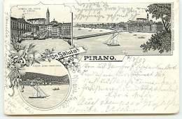 Un Saluto Da Pirano - Gruss - 1897 - Slowenien