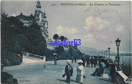 Monte-Carlo - Le Théatre Et Terrasses - 1912 - Monte-Carlo