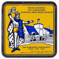 Plaque Publicitaire Carton Fort Musée Européen De La Brasserie, Romedenne (Philippeville, Belgique), Années 1990, Bière - Alcohols