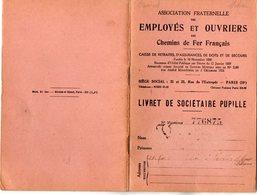 VP12.687 - PARIS 1949 - Association Des Employés & Ouvriers Des Chemins De Fer - Livret De Sociétaire Pupille - - Chemin De Fer
