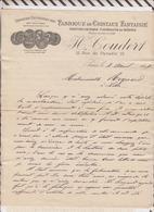 8/88 Lettre Facture COUDERT PARIS FABRIQUE CRISTAUX FANTAISIE / 1897 - France