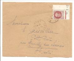 Pétain Bersier 1,50F Yv517 SEUL.Coin A Date. 69Meyzieu - 1921-1960: Periodo Moderno