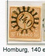 C1 Timbre Bavière Cachet 140 (Homburg) - Saar